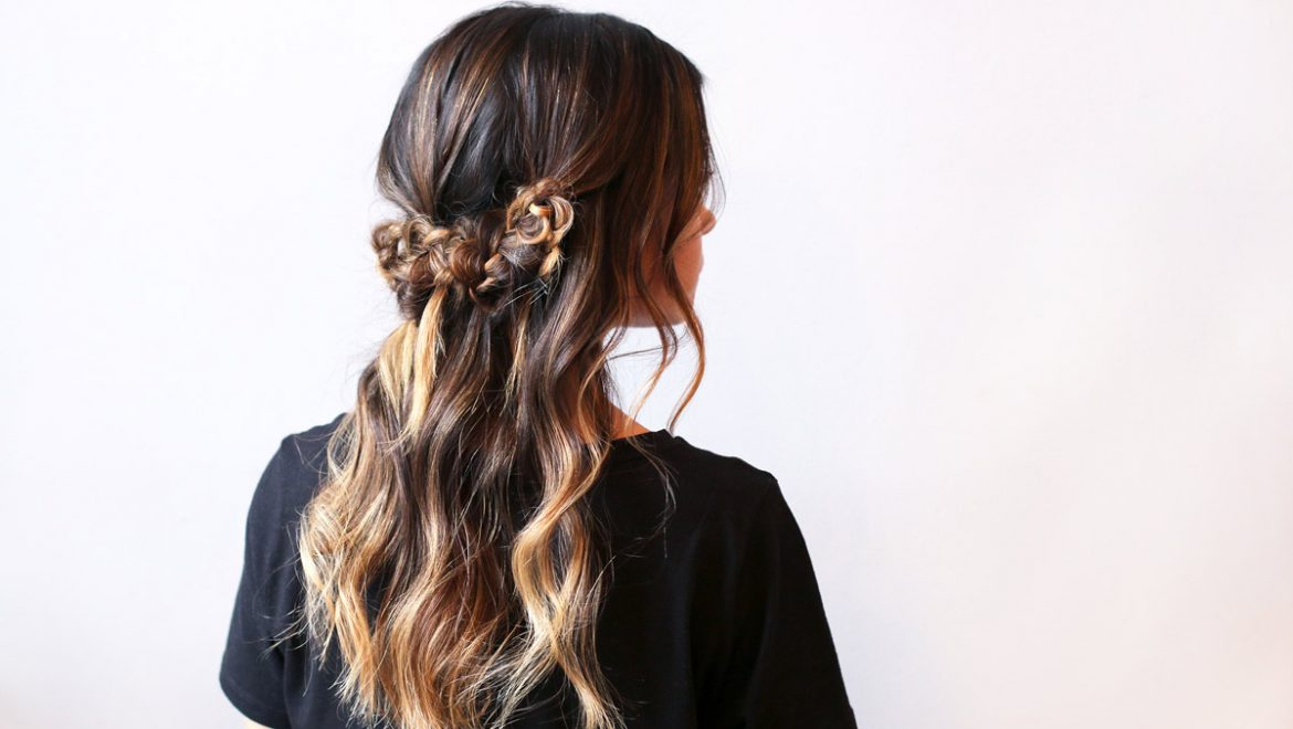 Pretty braids for a romantic Holiday look