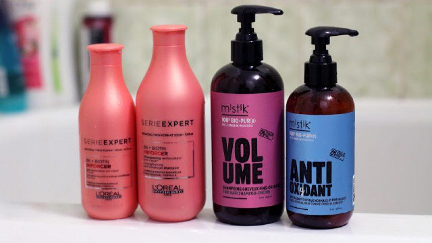 Dans la douche: pour des cheveux forts et en santé